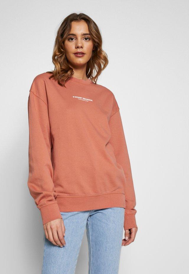 SWEATER RUSTY - Sweatshirt - rusty red