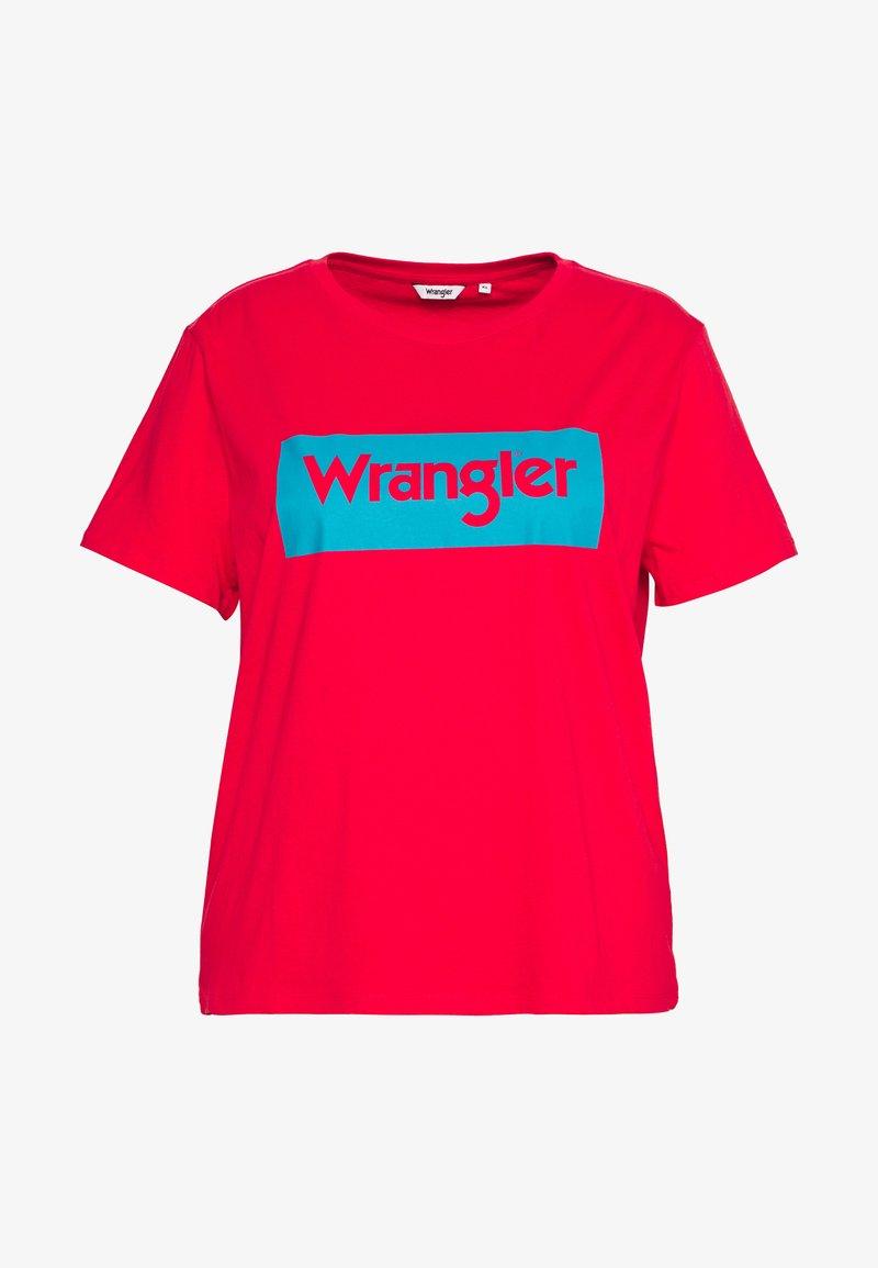 Wrangler Plus - LOGO TEE - T-shirt med print - bittersweet red