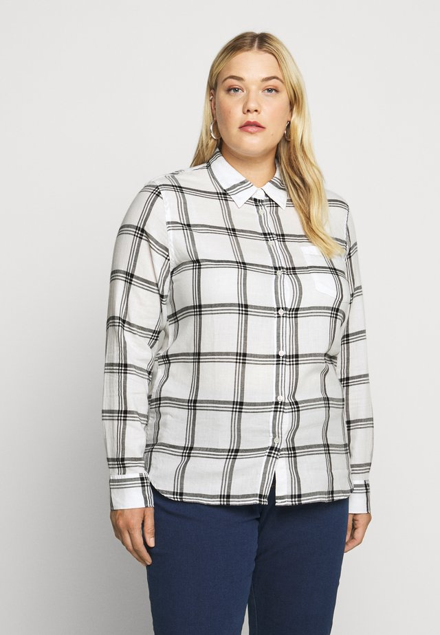 REGULAR - Button-down blouse - off white
