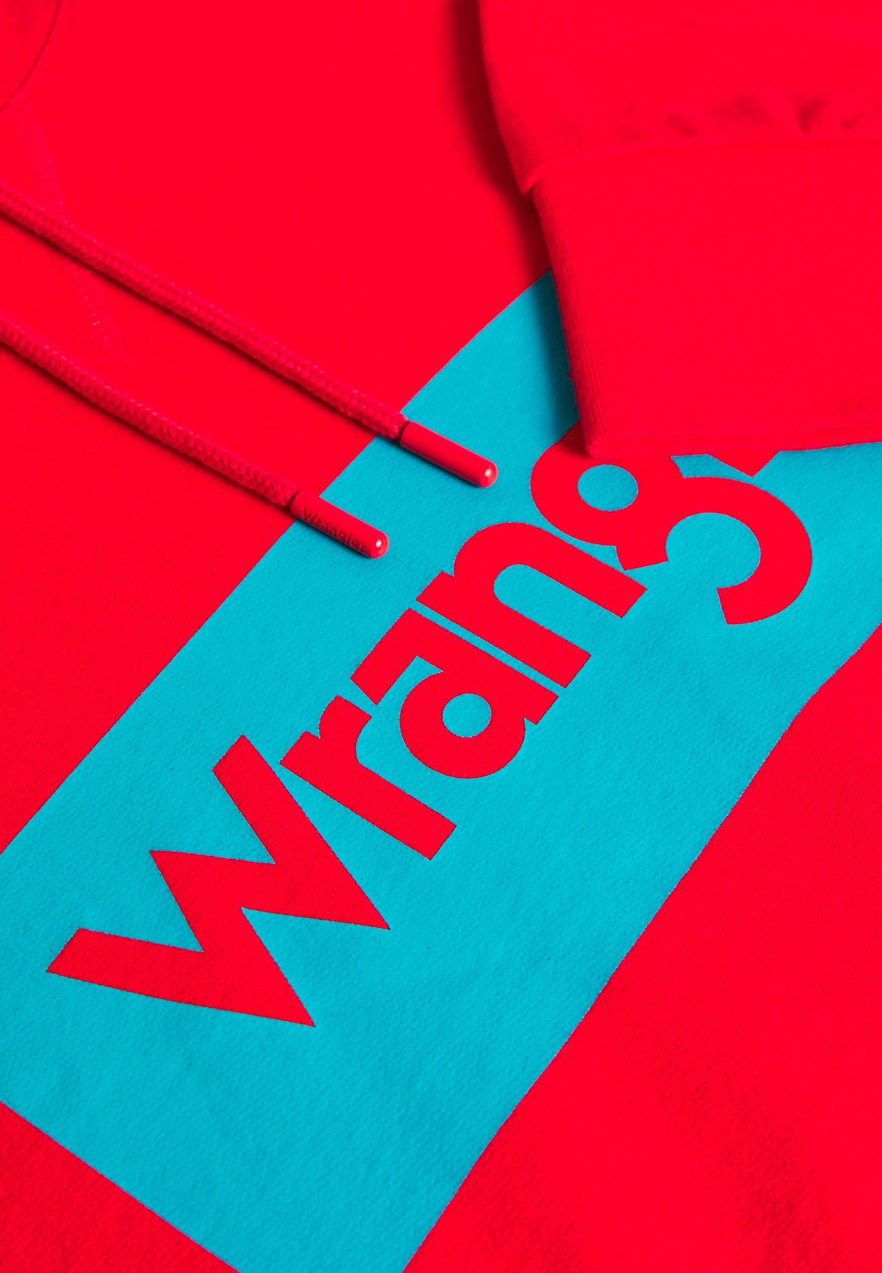 Wrangler Plus LOGO HOODIE - Bluza z kapturem - bittersweet red