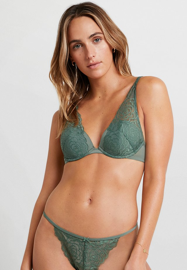 CLASSIC PADDED HALTER - Soutien-gorge triangle - khaki