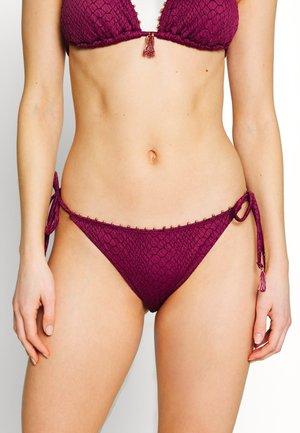 SIDE STRING BRASILIEN BRIEF - Bikinibroekje - aubergine