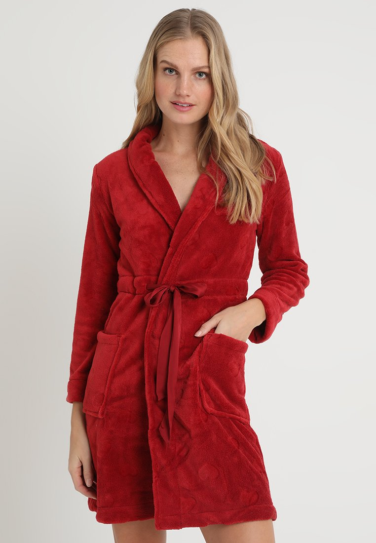 Women Secret - HEARTS ROBE - Badjas - red