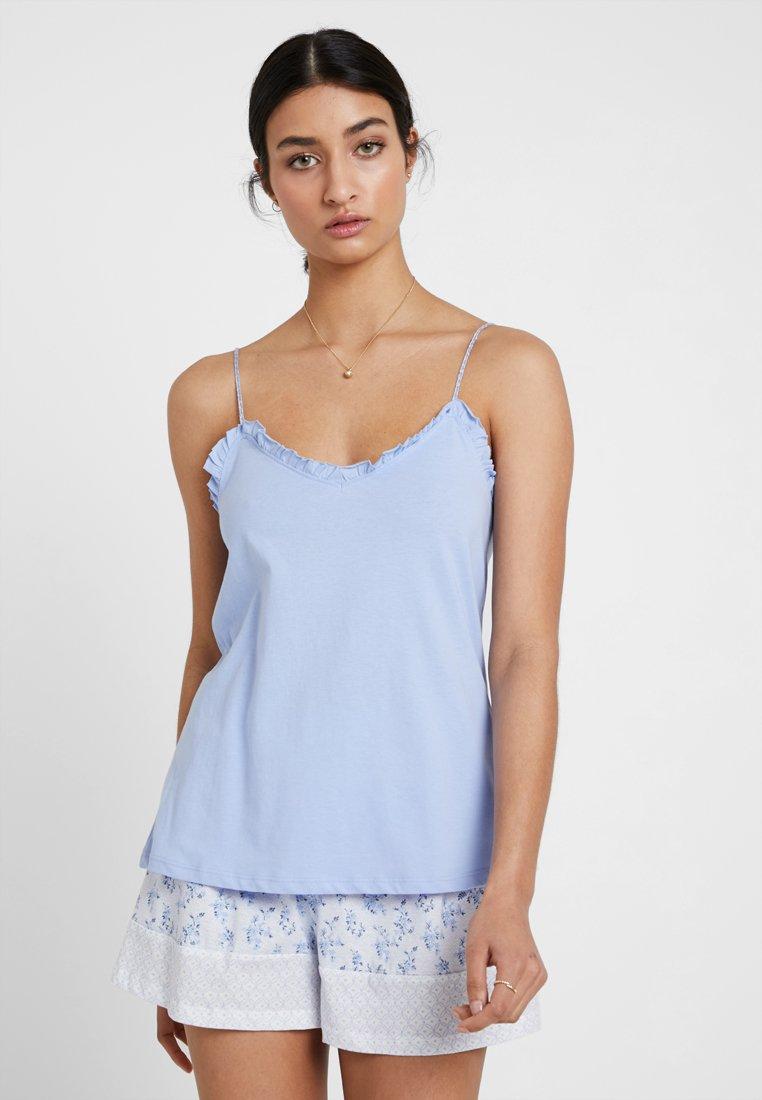 Women Secret - IN ZIGZAG SET - Pyjama - sky blue