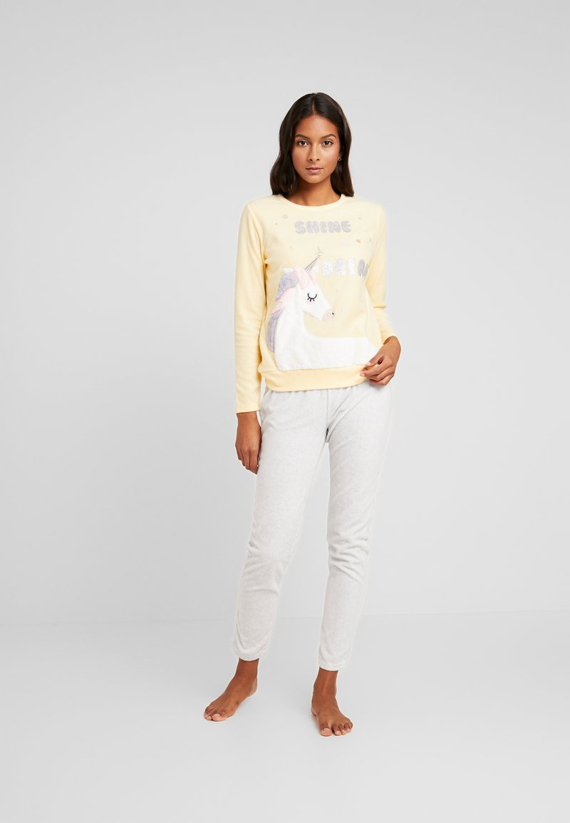 Women Secret - UNICORN SET - Pyžamová sada - yellow melange