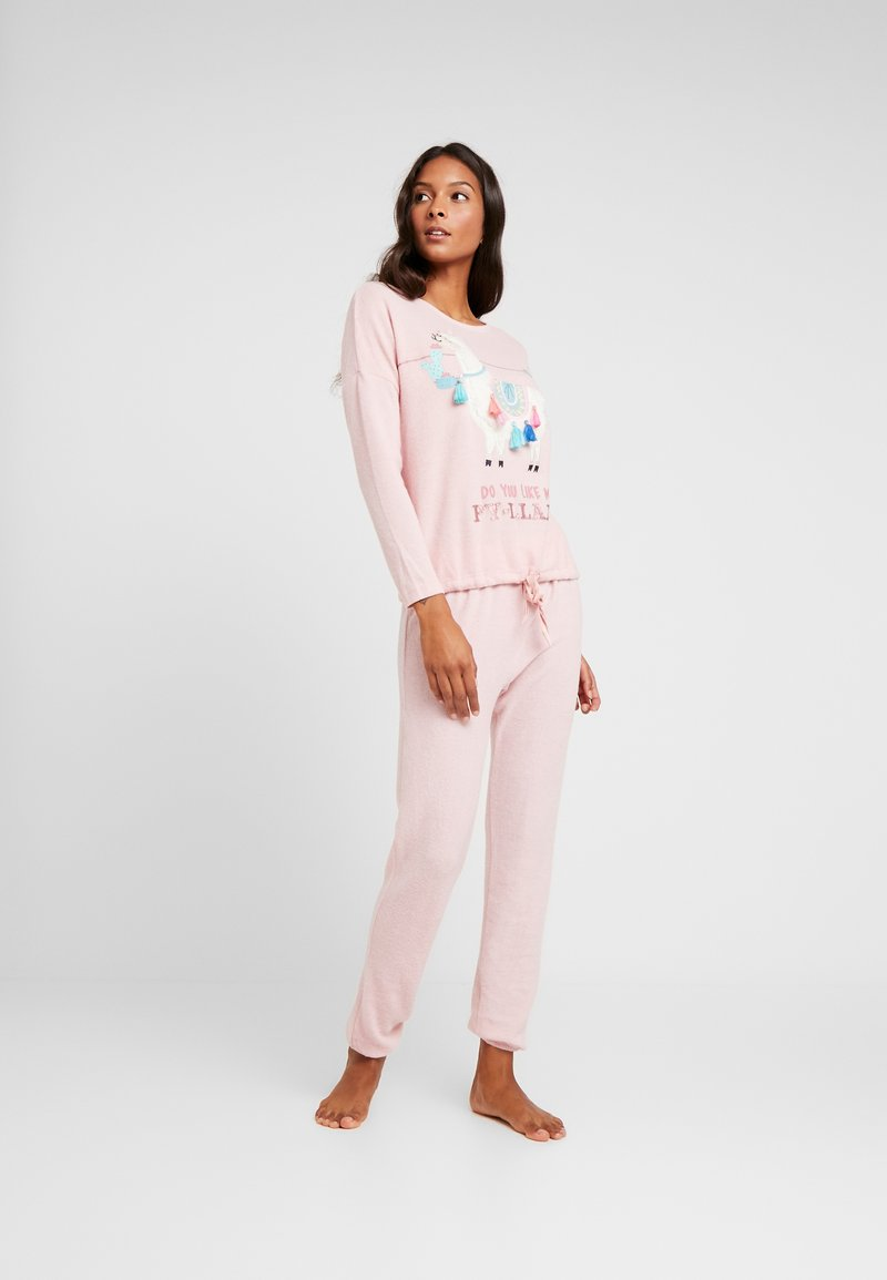 Women Secret - LLAMA SET - Pijama - tender pink