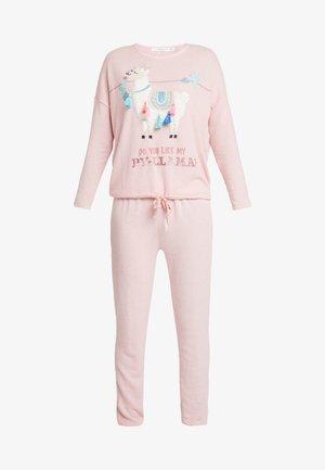 LLAMA SET - Pyžamová sada - tender pink