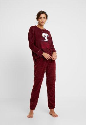LOVE IS SET - Pyjama - burgundy