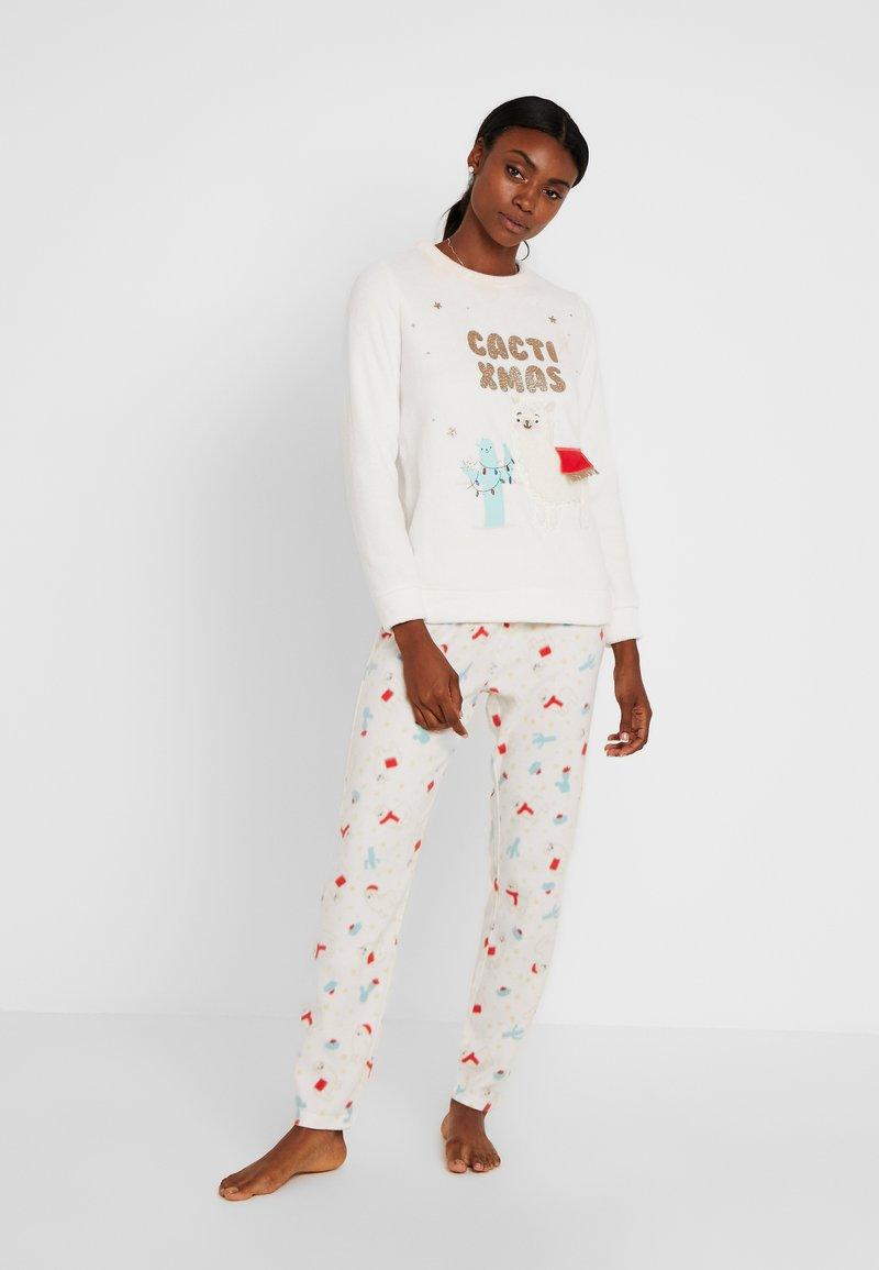 Women Secret - CACTIXMAS SET - Pyžamová sada - vanilla