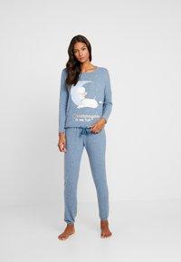 Women Secret - POODLE SET - Pyjama set - blue melange - 1