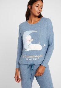 Women Secret - POODLE SET - Pyjama set - blue melange - 3