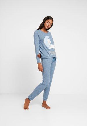 POODLE SET - Pyžamová sada - blue melange