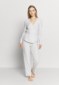 Women Secret - LONG SLEEVES LONG PANT SET - Pyžamo - grey - 1
