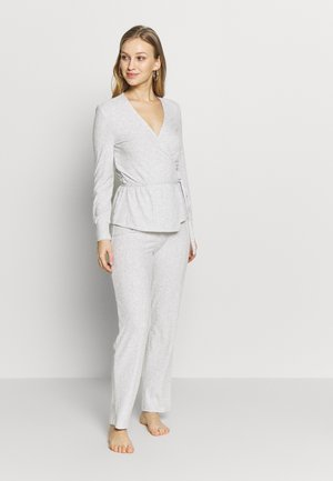 LONG SLEEVES LONG PANT SET - Pyjama - grey