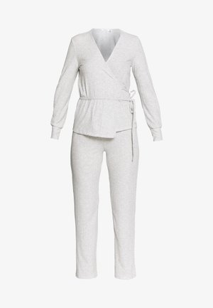 LONG SLEEVES LONG PANT SET - Pyžamo - grey