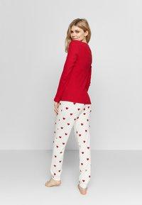 Women Secret - LONG SLEEVES LONG PANT PYJAMA SET - Pyžamová sada - red - 2