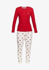 Women Secret - LONG SLEEVES LONG PANT PYJAMA SET - Pyžamová sada - red - 3