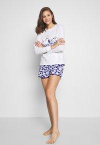 Women Secret - LONG PYJAMA - Pyjamasoverdel - white - 1