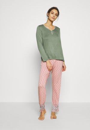 LONG SET - Pyžamová sada - olive