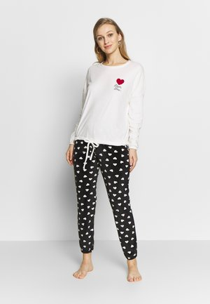 LONG SLEEVES LONG PANT - Pijama - spring ecru