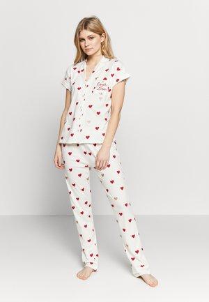 SHORT SLEEVES MASCULINE  - Pyjamas - beige