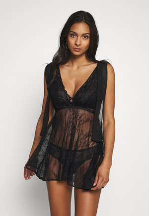 SHORT NIGHTDRESS - Negligé - black