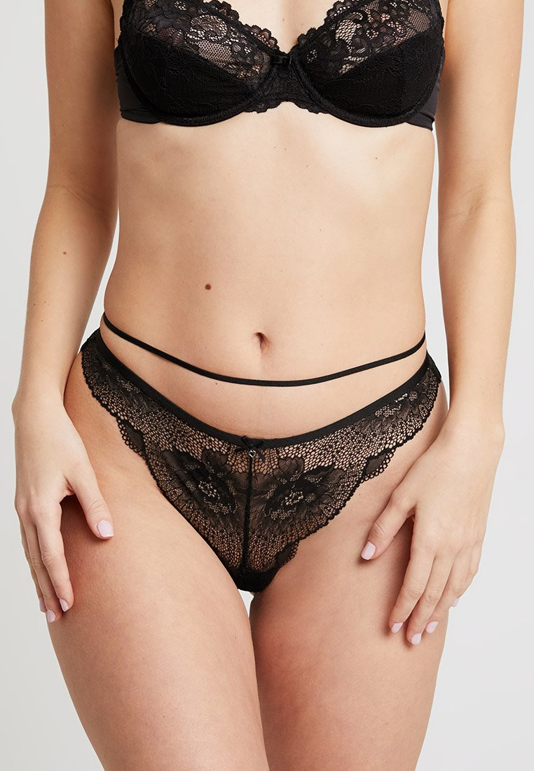 Women Secret - BRASILIEN BRIEF - String - black