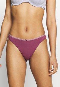 Women Secret - HIPSTER BRIEF 7 PACK - Slip - burgundy - 2