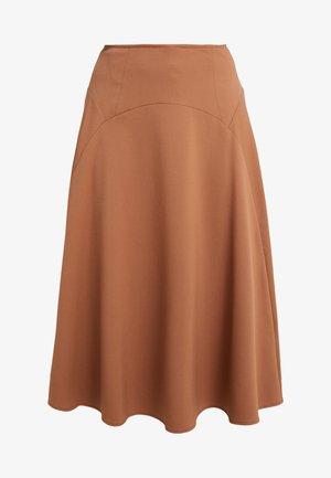 MASTER - Áčková sukně - kamel