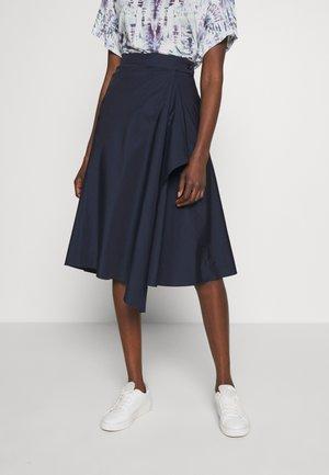 ALGA - A-line skirt - blau