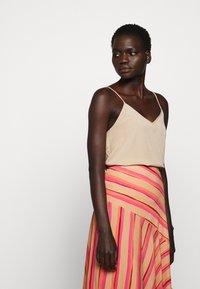 Sportmax Code - ROMANA - A-line skirt - puder - 3