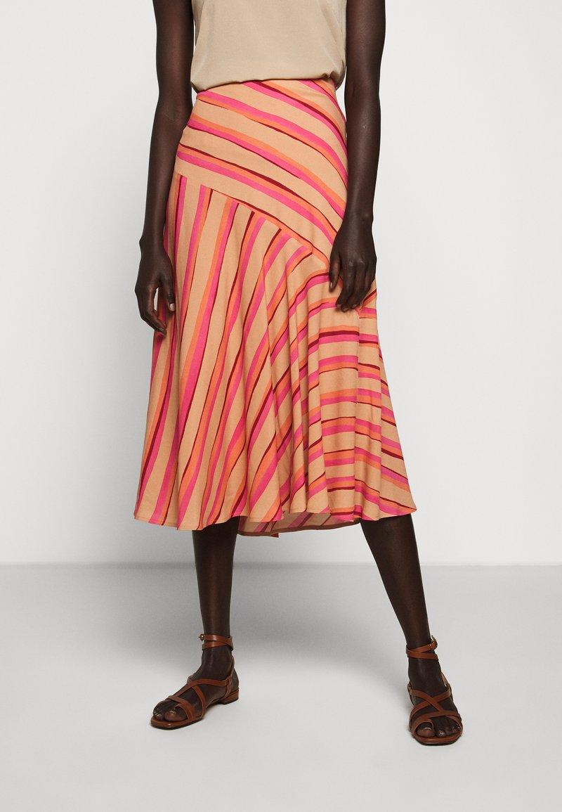 Sportmax Code - ROMANA - A-line skirt - puder