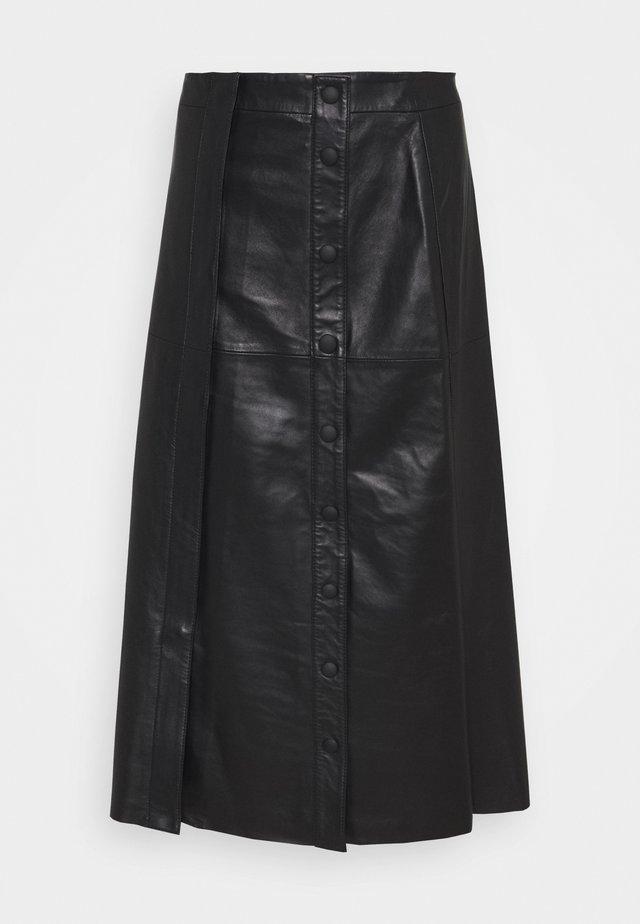 GERUSIA - Pencil skirt - schwarz