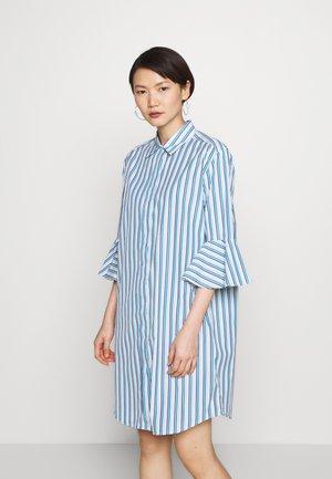 SERRA - Skjortekjole - azurblau