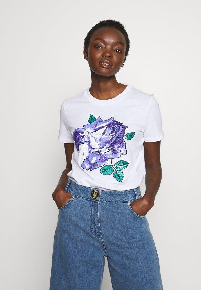 JESONE - T-shirt imprimé - weiss