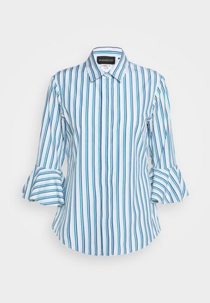 Button-down blouse - azurblau