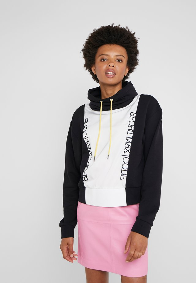 VERRES - Sweatshirt - black/white/yellow