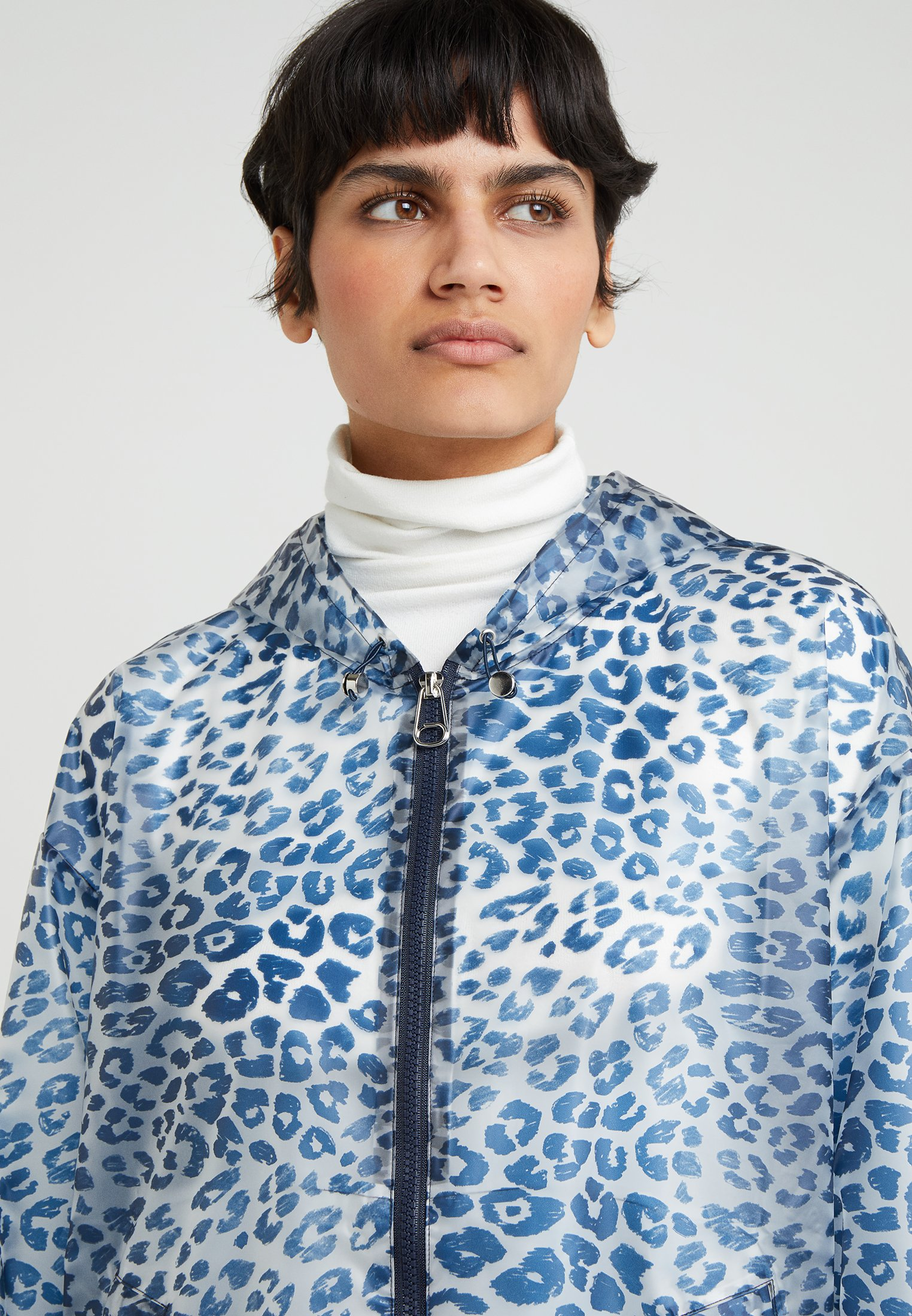 sportmax code blaue winter jacke
