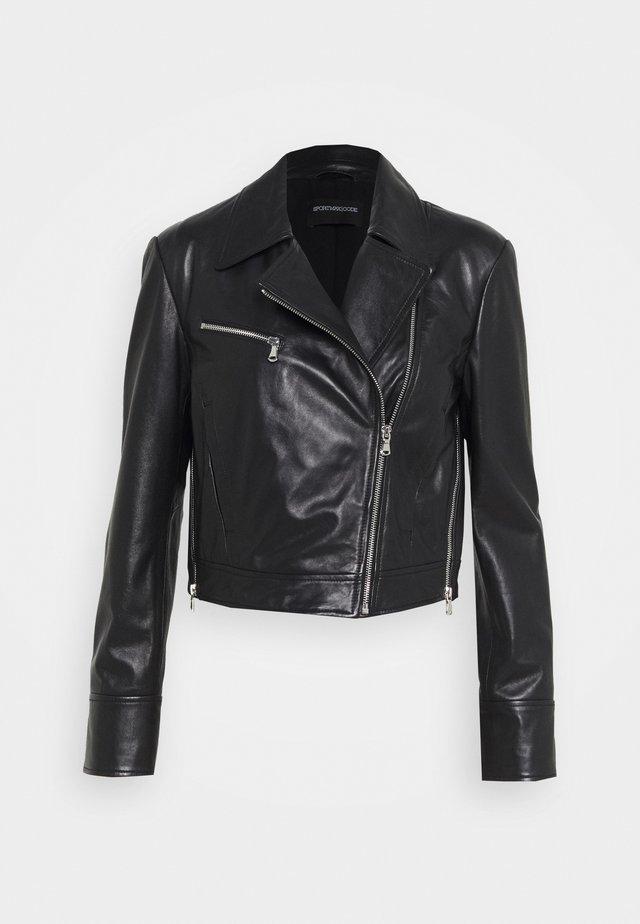 ALEC - Veste en cuir - schwarz