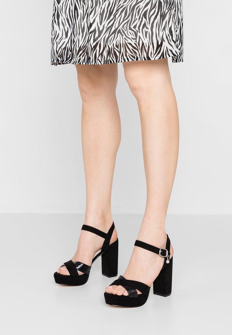 XTI - Sandaler med høye hæler - black