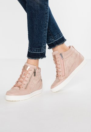 Sneakers high - nude
