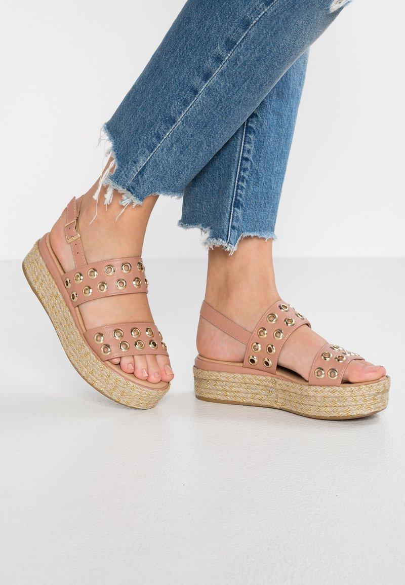 XTI - Platform sandals - nude