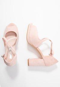 XTI - Sandály na vysokém podpatku - nude - 3