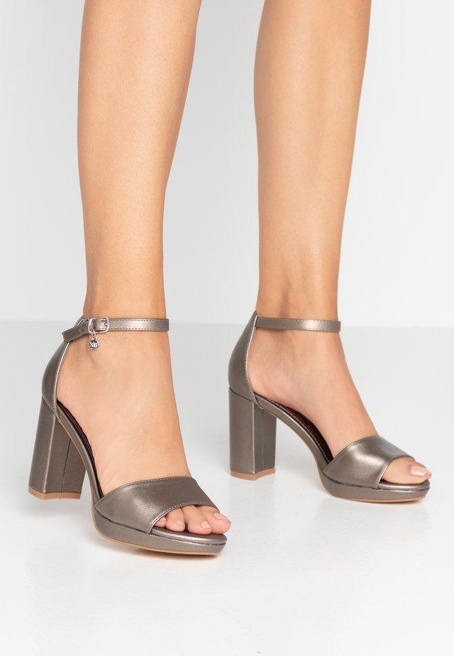 High Heel Sandalette - bronze metallic