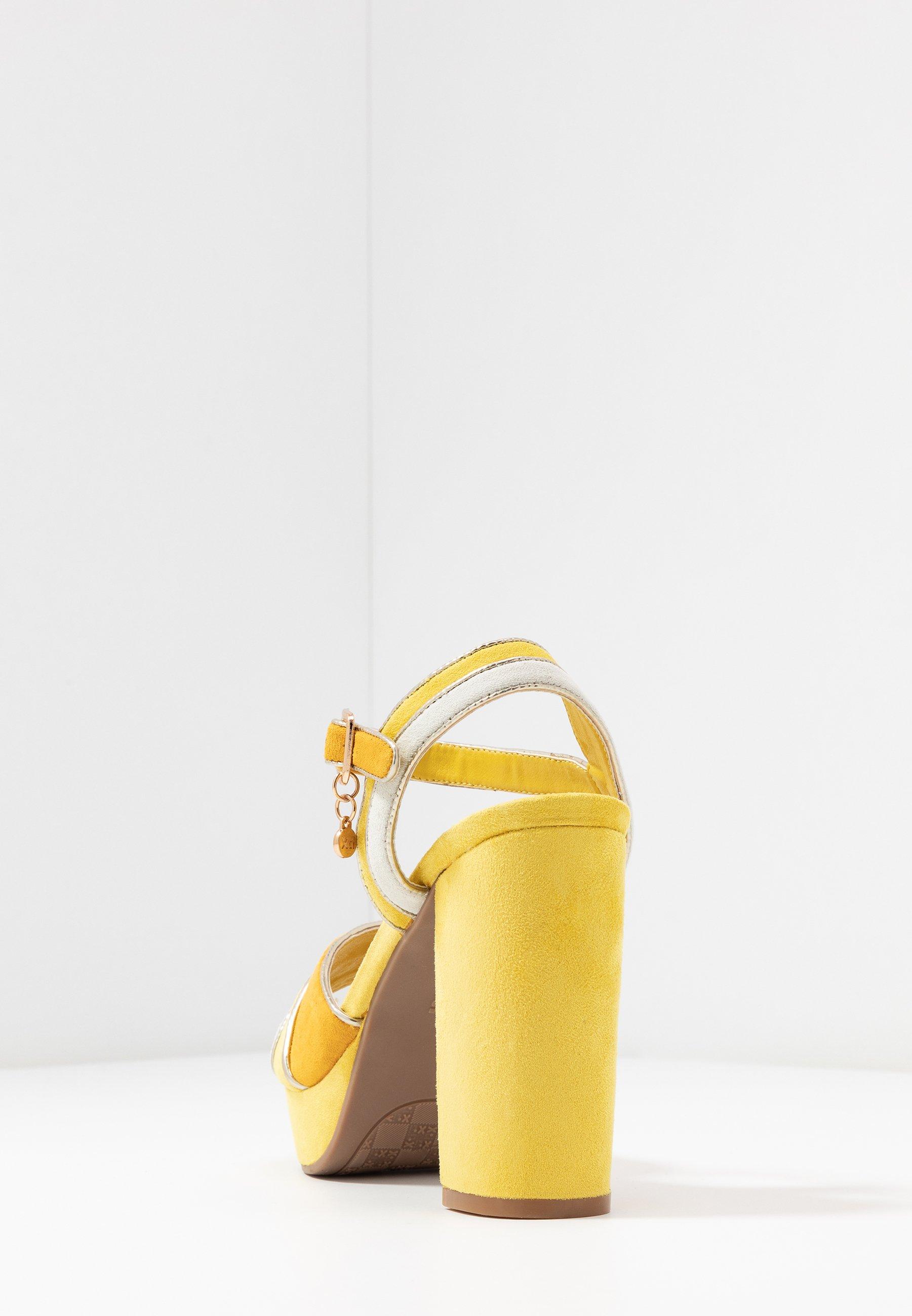 XTI Sandales à talons hauts - amarillo