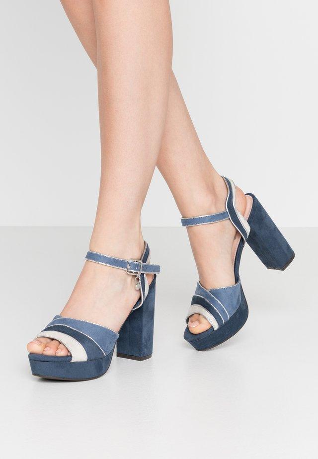 High heeled sandals - jeans