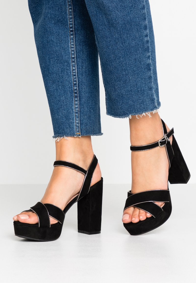 XTI - Sandalen met hoge hak - black
