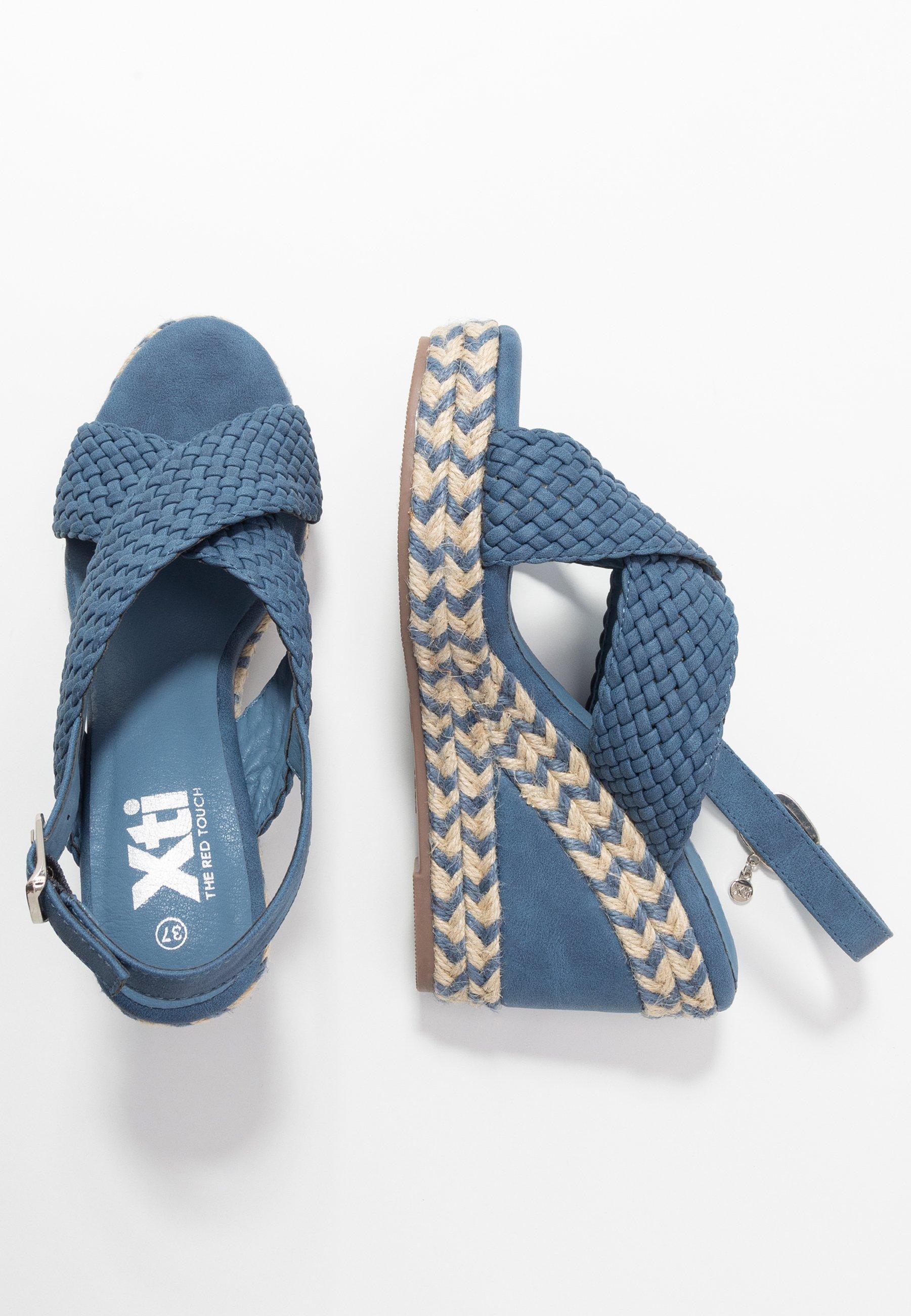 XTI Sandały na obcasie - jeans
