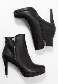 XTI - Kotníková obuv na vysokém podpatku - black - 3