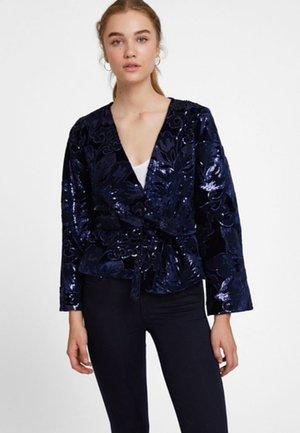MIT PAILLETTEN - Summer jacket - dark blue